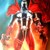 Very colorful airbrush painting  of Spawn by John Dillon